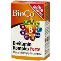 BioCo B-vitamin Komplex Forte MEGAPACK tabletta 100x