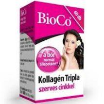 BioCo Kollagén Tripla szerves cinkkel tabletta 60x
