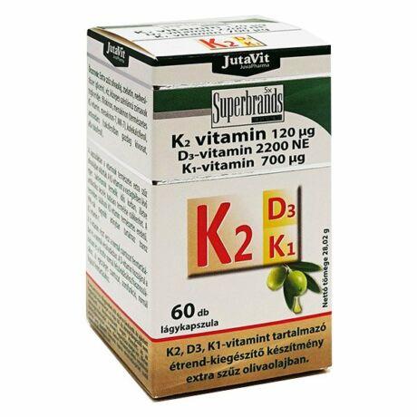 JutaVit K2 120 µg+D3 2200 NE+ K1 700 µg vitamin 60x