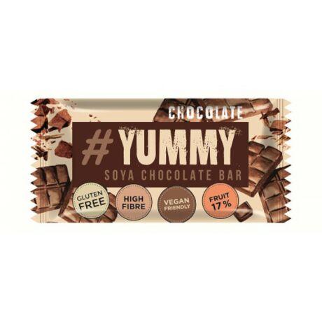 Yummy gyümölcsös-mogyorós gluténmentes szója szelet étcsokoládé darabokkal 40 g