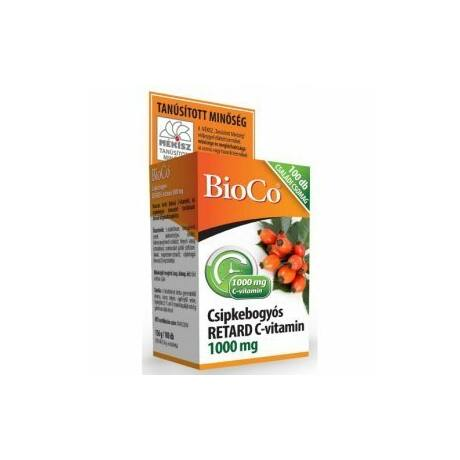 BioCo (MÉKISZ) Csipkebogyós Retard C-vitamin 1000mg CSALÁDI CSOMAG filmtabletta 100x