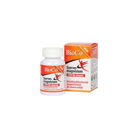 BioCo Szerves Magnézium STOP B6-vitamin tabletta 60x