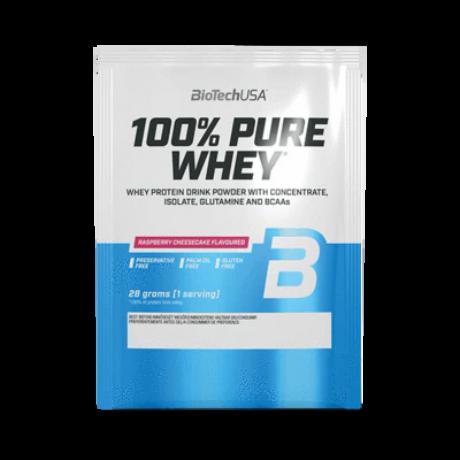 BioTechUSA 100% Pure Whey Lactose Free 28g Eper-kifutó