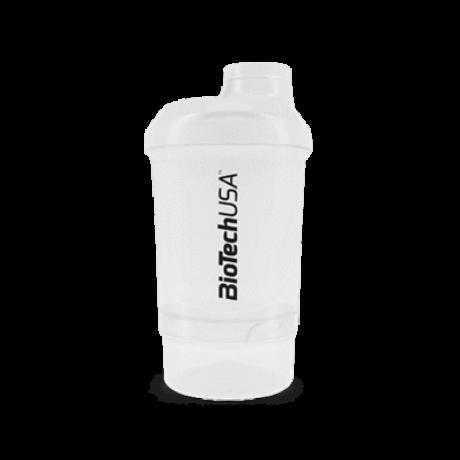 BioTechUSA Keverőpalack Biotech Wave+ Nano 300 ml (+150 ml) átlátszó