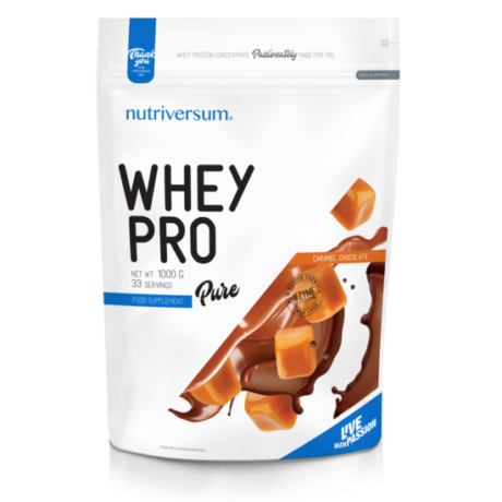 Nutriversum Pure Whey Pro 1000g caramel chocolate