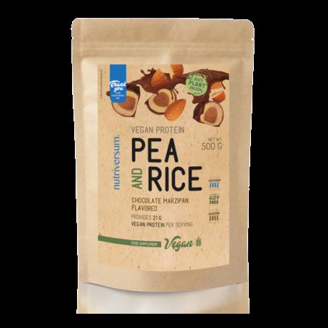 Nutriversum Vegan Pea and Rice Vegan Protein 500g chocolate marzipan