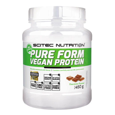Scitec Pure Form Vegan Protein 450g mogyoró-karamell
