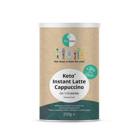GO Keto MCT Powder Keto Coffee Sweet Cappuccino 250g