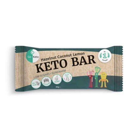 GO Keto MCT Keto Bar Hazelnut Coconut Lemon 40g